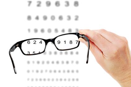 beim optiker sehtest